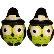 Mini Halloween Owls Salt and Pepper Shakers