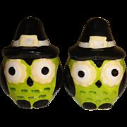 Mini Halloween Owls Salt and Pepper Shakers