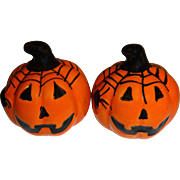 Mini Halloween Pumpkins Salt and Pepper Shakers