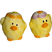 Tiny Easter Chicks Salt and Pepper Shakers