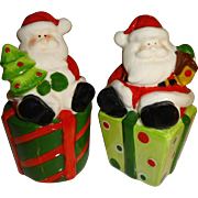 Santa's Sitting on Presents Salt and Pepper Shakers
