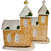 Snow Covered Churches Salt and Pepper Shakers