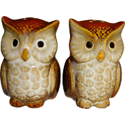 Fall Harvest Owl Salt and Pepper Shakers