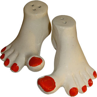 Funny Feet Salt and Pepper Shakers made in Japan