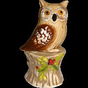 Owl on Tree Stump Salt and Pepper Shakers