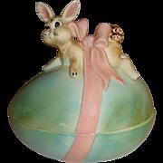 Ceramic Bunny Box Atlantic Mold 1970's