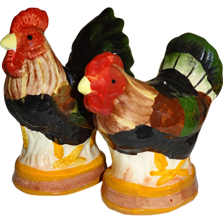 Chicken and Rooster Salt and Pepper Shakers