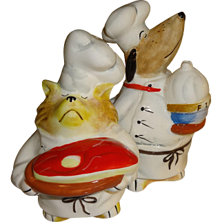 Snooty Chefs Cat & Dog Salt and Pepper Shakers
