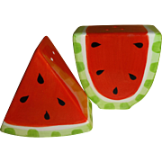 Sliced Watermelon Salt and Pepper Shakers