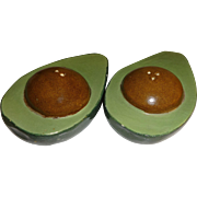 Handmade Ceramic Avocado Salt and Pepper Shakers