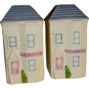 Two Story House Salt and Pepper Shakers - Made in Mexico