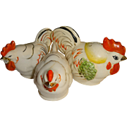 Hen and Roosters Salt and Pepper Shakers - Made in Japan