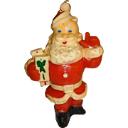 Vintage Gurley Santa Candle with Presents
