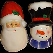 Snowman & Santa Salt and Pepper Shakers