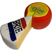 Miniature Brie and Gouda Cheese Salt and Pepper Shakers