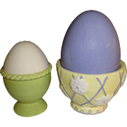 Easter Eggs In Cups Salt and Pepper Shakers