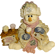 Boyds Bears & Friends The Wee Folkstone Slurp Snowman Figurine