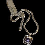 Silver Tone Purple Necklace for Sensitive Skin