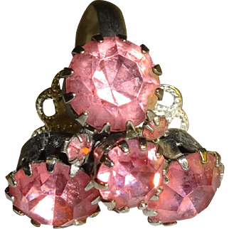 Fun and Funky Pink Stones Adjustable Ring