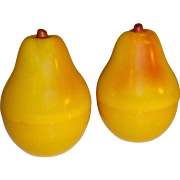 Plastic Yellow Pears Salt and Pepper Shakers