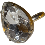 Large Marquis Teardrop Clear Lucite Adjustable Ring