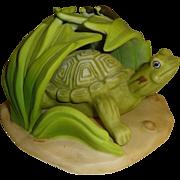 Franklin Mint Woodland Surprises Turtle Figurine