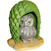 Franklin Mint Woodland Surprises Owl Figurine