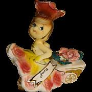 Vintage Norcrest June Birthday Girl Figurine