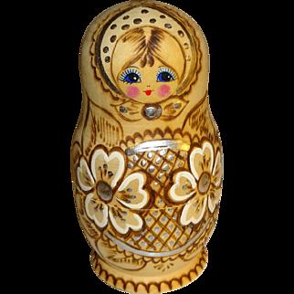 Signed Russian Wood Nesting Dolls - Set of 5