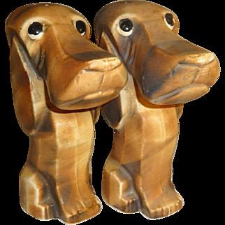 Vintage Big Nosed Beagles Salt and Pepper Shakers - Japan