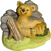 Franklin Mint Woodland Surprises Bear Figurine