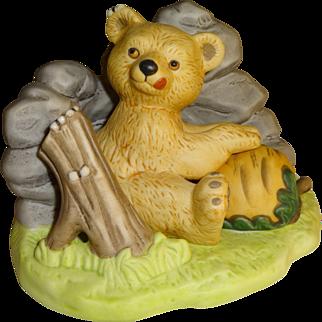 Franklin Mint Woodland Surprises Bear Figurine