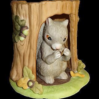 Franklin Mint Woodland Surprises Squirrel Figurine