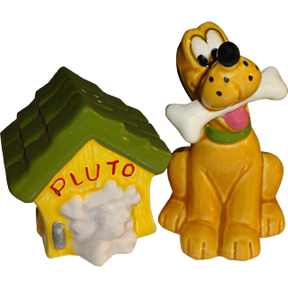 Disney Pluto and Dog House Salt and Pepper Shakers