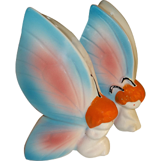Vintage Butterfly Gnomes Salt and Pepper Shakers