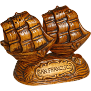 Treasure Craft San Francisco Ships Salt and Pepper Shakers