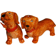 Red Wiener Dogs Salt and Pepper Shakers
