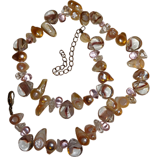 Vintage Baroque Pearls and Glass Bead Necklace