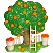 Plastic Glitter Orange Tree Salt and Pepper Shaker Set