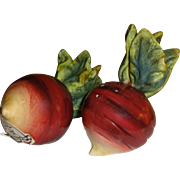 Realistic Looking Beets or Turnips Salt and Pepper Shakers