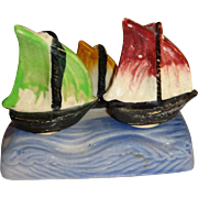 Sail Boats with Holder Salt and Pepper Shakers