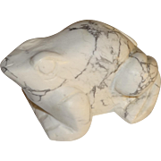 Hand Carved Marble Frog Paperweight