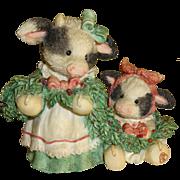 Enesco Mary's Moo Moos Christmas Figurine