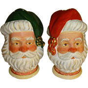 Dept 56 Santa Heads Salt and Pepper Shakers