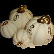 Lenox Creamy White Pumpkins Salt and Pepper Shakers
