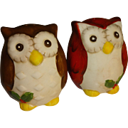 Christmas Owls Salt and Pepper Shakers