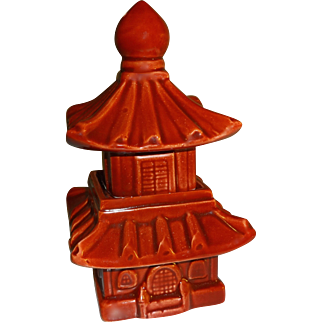 Fitz & Floyd Two-Piece Pagoda Salt and Pepper Shakers