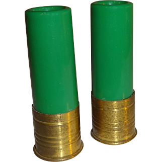 Vintage Shot Gun Shells Salt and Pepper Shakers