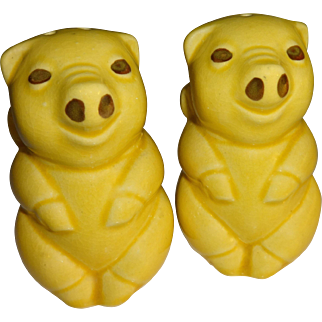 Yellow Pigs Salt and Pepper Shakers