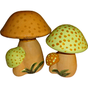 Large Ceramic Mushroom Salt and Pepper Shakers